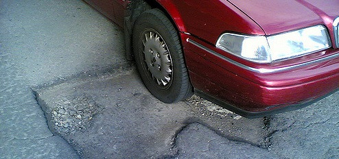 Pothole injury